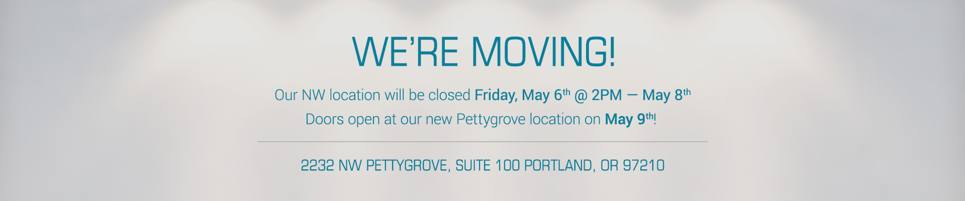 Studio Blue is moving!