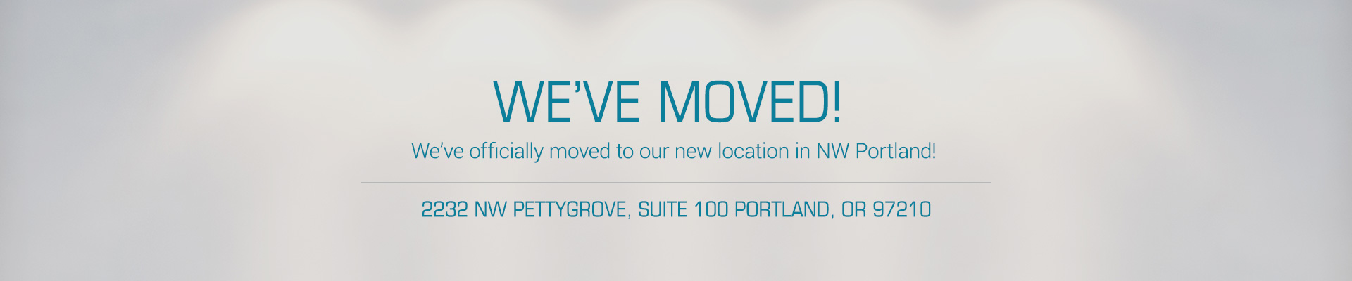 Studio Blue has moved to a new NW Location!