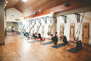 TRX Fitness Classes at Studio Blue Pilates in Downtown Portland Oregon
